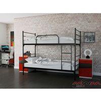Łóżka, ŁÓŻKO METALOWE PIĘTROWE ROZKŁADANE 90x200