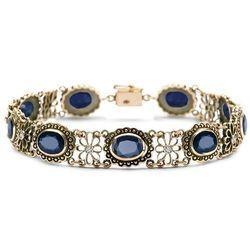 Kolekcja Wiktoriańska - bransoletka z diamentamii szafirami