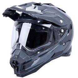 Kask motocyklowy W-TEC AP-885 carbon look z blendą endurro, M (57-58)