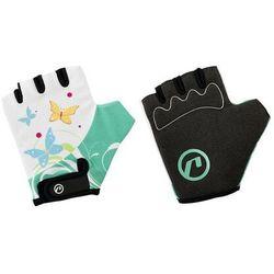 Rękawiczki dziecięce Accent Daisy biało-zielone L/XL