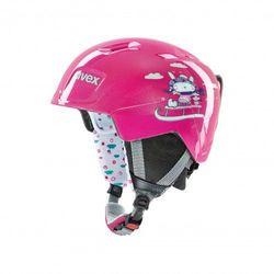 UVEX kask narciarski dziecięcy Manic - pink snow bunny (51-55 cm)