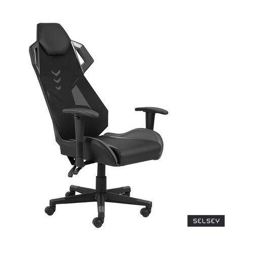Fotele dla graczy, SELSEY Fotel gamingowy Burgone czarno-szary