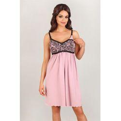 Koszulka nocna Koszula Nocna Model 3007 Pink/Black - Lupo Line