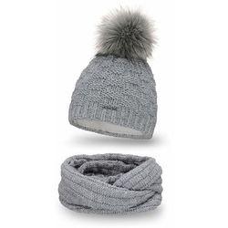 Komplet PaMaMi, czapka i komin - Jasnoszary - Jasnoszary