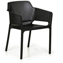 Fotel ogrodowy RUSTIC, czarny, 3+1 GRATIS