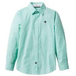 Koszula bonprix biało-niebieski mentolowy w paski