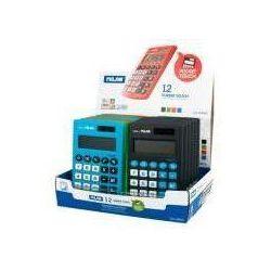 Kalkulator Milan kieszonkowy touch z satynową matową powłoką w dotyku jak gumka