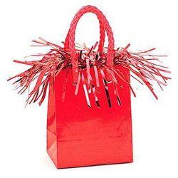 Obciążnik do balonów napełnionych helem Mini torebka prezentowa czerwona - 178 g.