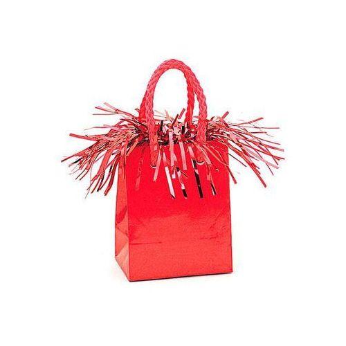 Opakowania prezentowe, Obciążnik do balonów napełnionych helem Mini torebka prezentowa czerwona - 178 g.