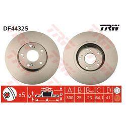TARCZA HAM TRW DF4432S HONDA ACCORD VIII 2.0 03-, 2.2I-CTDI 04-, 2.4 03-