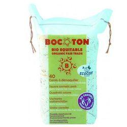BOCOTON Ekologiczne płatki kosmetyczne BIO kwadratowe 75x75mm / 40szt