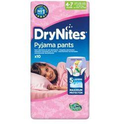 HUGGIES DryNites GIRL (17-30kg) majteczki na noc 10szt pieluszki