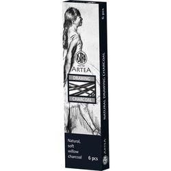 Węgiel rysunkowy naturalny Artea 6 szt 6-8mm ASTRA