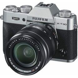 FujiFilm aparat fotograficzny X-T30+XF 18-55 mm Silver