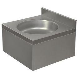 Umywalka ze stali nierdzewnej | jednokomorowa | obudowana | 400x400x(H)220mm