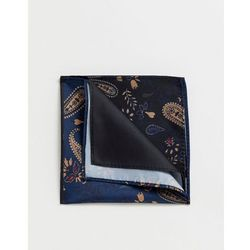 ASOS DESIGN 4 way pocket square in navy paisley - Multi