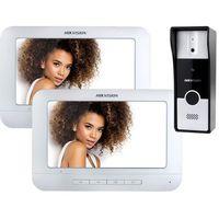 Domofony i wideodomofony, Wideodomofon Hikvision DS-KIS202 z dwoma monitorami