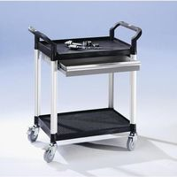 Wózki i stoły narzędziowe, Wózek uniwersalny z szufladami, dł. x szer. x wys. 850x480x950 mm, 1 szuflada, 2
