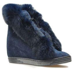 Sneakersy Exclusive Roberto 506/F Granatowe zamsz