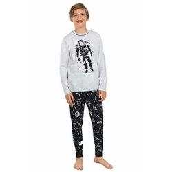 Piżama chłopięca Tryton szara z astronautą