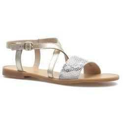 Sandały Ryłko 0AH69_Q_7JK Beżowobrązowe/Złote lico