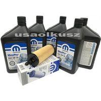 Pozostałe oleje, smary i płyny samochodowe, Olej Mopar 0W20 oraz oryginalny filtr Chrysler Pacifica 3,6 V6