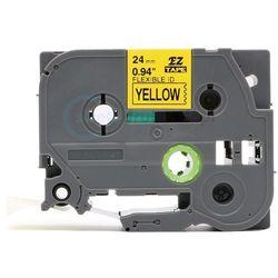 Taśma do brother flexi tze-fx651 żółta/czarny nadruk 24mm x 8m zamienn