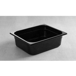 Pojemnik GN 1/2 z poliwęglanu | czarny | wys. 65 - 100mm