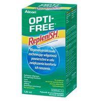 Płyny pielęgnacyjne do soczewek, OPTI-FREE 120ml RepleniSH Wielofunkcyjny płyn dezynfekujący do miękkich soczewek kontaktowych