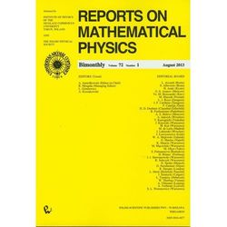 Reports on Mathematical Physics 81/2 wersja krajowa (opr. miękka)
