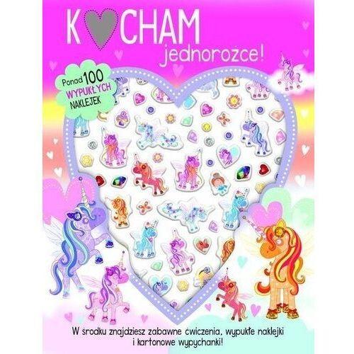 Książki dla dzieci, Kocham jednorożce - 100 wypukłych naklejek