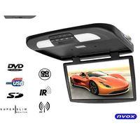 "Monitory samochodowe, NVOX RF1890D Black Monitor podwieszany podsufitowy LCD 18"" cali HD DVD USB SD IR FM"