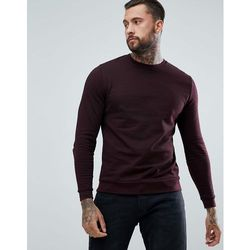 ASOS Sweatshirt In Burgundy - Red