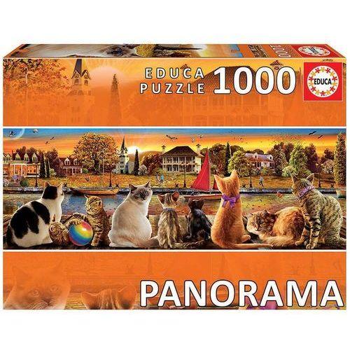 Puzzle, Puzzle 1000 elementów Koty na nadbrzeżu Panorama