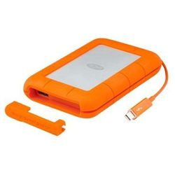 LACIE Rugged 500GB SSD Thunderbolt & USB3.0 2.5inch with Thunderbolt cable Shock dust and water resistant