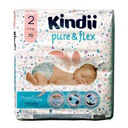 Kindii Pure & Flex Pieluchy jednorazowe 2 (3-6kg) 1op.-70szt