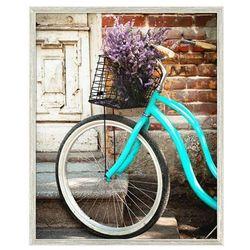 Obraz 40 x 50 cm Rower & wrzos