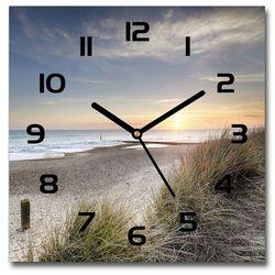 Zegar szklany Zachód słońca i wydmy 30x30 Zachód słońca i wydmy