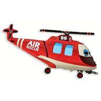Pozostałe wyposażenie domu, Balon foliowy do patyka Helikopter Ratunkowy - 36 cm - 1 szt.
