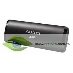 Adata Dysk zewnętrzny SSD SE760 512GB USB3.2-A/C Czarny