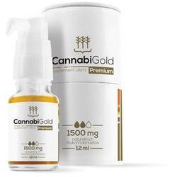 Olejek 1500mg CBD 12ml CannabiGold (15%)