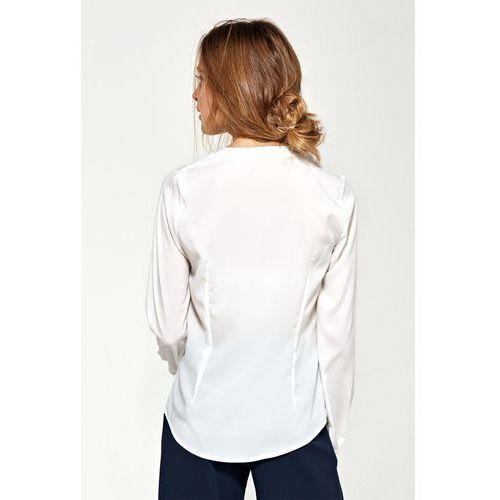 Bluzki, Bluzka z asymetrycznymi falbanami- ecru - B89