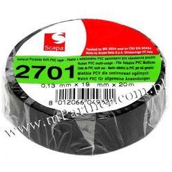 Taśma izolacyjna Scapa PCV 2701 19mm 20m czarna