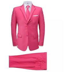 2-częściowy garnitur męski z krawatem różowy rozmiar 52