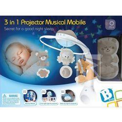 3w1 Projektor muzyczna karuzelka beżowa