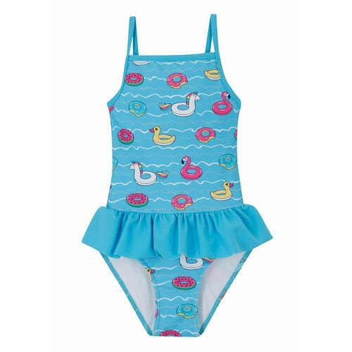 Stroje kąpielowe dla dzieci, Kostium kąpielowy dziewczęcy bonprix jasnoniebieski