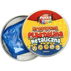 Plastelina kreatywna metaliczna niebieska 60g Pukka
