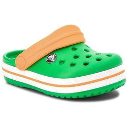Klapki CROCS - Crocsband Clog K 204537 Grass Green/White/Blazing Orange