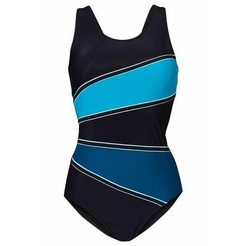 Stroje kąpielowe, Kostium kąpielowy shape Level 3 bonprix czarny-niebieskozielony morski