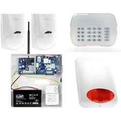 Zestaw alarmowy DSC 2x Czujnik ruchu Manipulator LED Powiadomienie, Sterowanie, Konfiguracja GSM